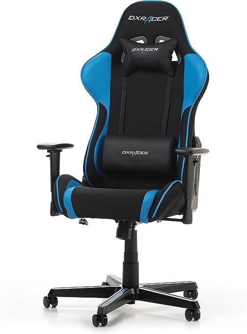 DXRacer Formula F11 Gaming Chair, Black/Blue, Tela, Schwarz/Blau mit Soffbezug, 85.5 x 69.5 x 35 cm: Amazon.es: Hogar