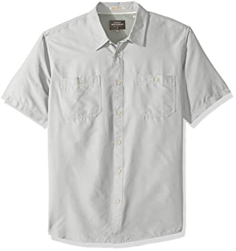 2514db1e976 Amazon.com  Quiksilver Men s Wake Solid UPF 50+ Sun Protection Shirt   Clothing