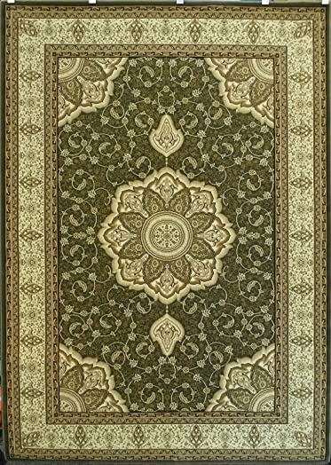 Elegance Persian Style Traditional Area Rug Design 206 Green 8 Feet x 10 Feet 6 Inch