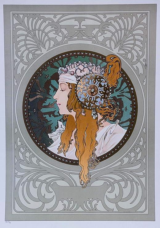 "Fashion Blond Girl Smoking Job by Alphonse Mucha 16/""X20/"" Vintage Poster FREE SH"