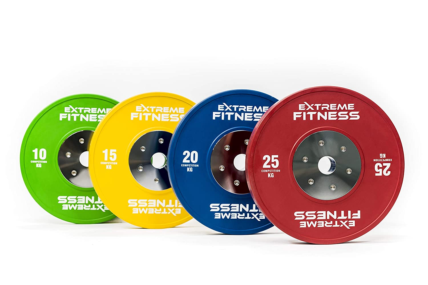 2 X 10Kg IWF Coloured Olympic Bumper Weight Disc Plates Fitness Gym Fitness, Running & Yoga Weight Plates
