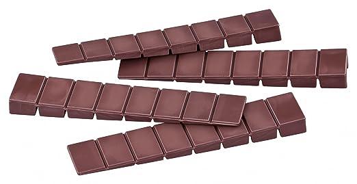 2 opinioni per Cunei per mobili/zeppe peha® in plastica con 7 punti di rottura, L = 100 x P =