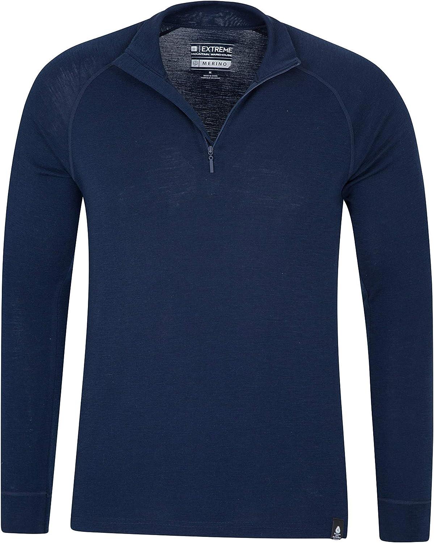 Mens Champion Baselayer Warmest Performance Wool Light Grey LS Crew Shirt S