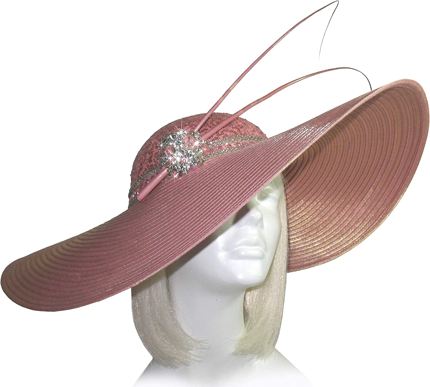 Ribbonwork Bonnet MINT Child/'s Ruffled Brim cream colored hat with pink ribbon work accents FFs1078a