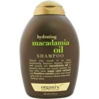 OGX Hydrating Macadamia Oil Shampoo (13 oz) Sulfate Free Surfactants Shampoo, Helps Defrizz, Smooth and Soften, For Most Hair Types