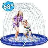 """Desuccus Splash Pad, 3-in-1 Sprinkler for Kids 68"""" Wading Pool Sprinkler & Splash Inflatable Water Toys for Children Outdoor"""