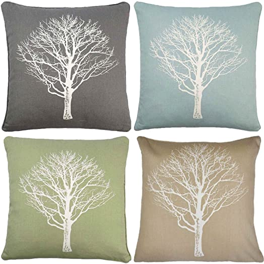 Carse Forest Luxury Printed Cushion Covers Modern Cushions Reversible Wood Trees Print