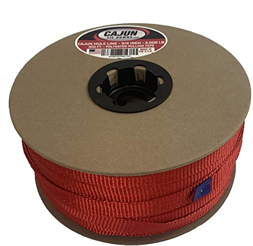 USA Made Seconds 3//8 x 5000 1130 Lb Polyester Pull Tape//Pulling Tape//Mule Webbing