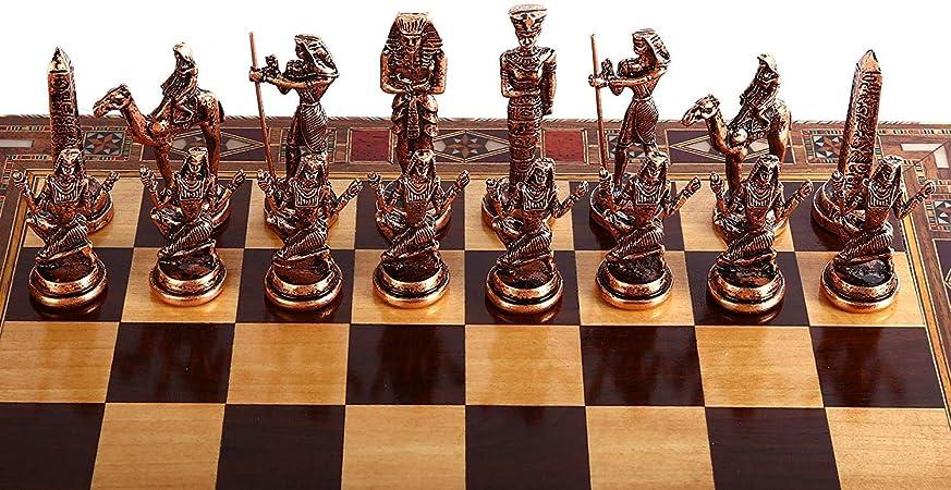 GiftHome (sólo Piezas de ajedrez Antiguo Egipto, Figuras de Cobre ...