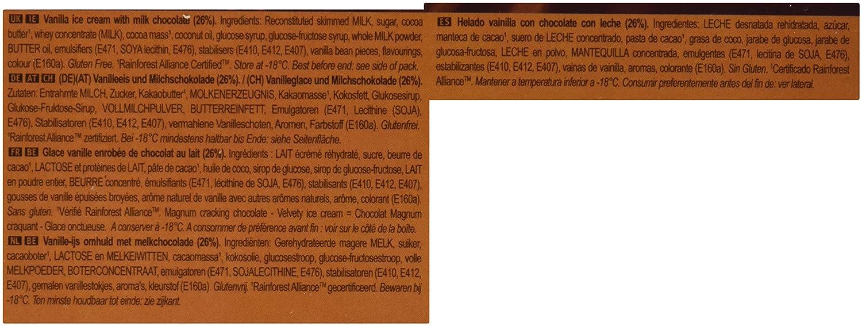 Magnum - Clásico - Helado de Vainilla con Chocolate con Leche - 6 x 80 g: Amazon.es: Alimentación y bebidas