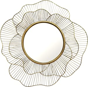 Stratton Home Decor S01681 Stella Wall Mirror, 28.25 W x 2.50 D x 28.25 H, Gold