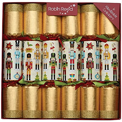 6 x 12 traditional english christmas crackers new glitter nutcracker contents