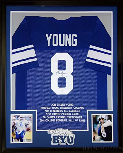 the best attitude 45308 4b562 Steve Young Framed Stat Jersey Autographed Signed ...