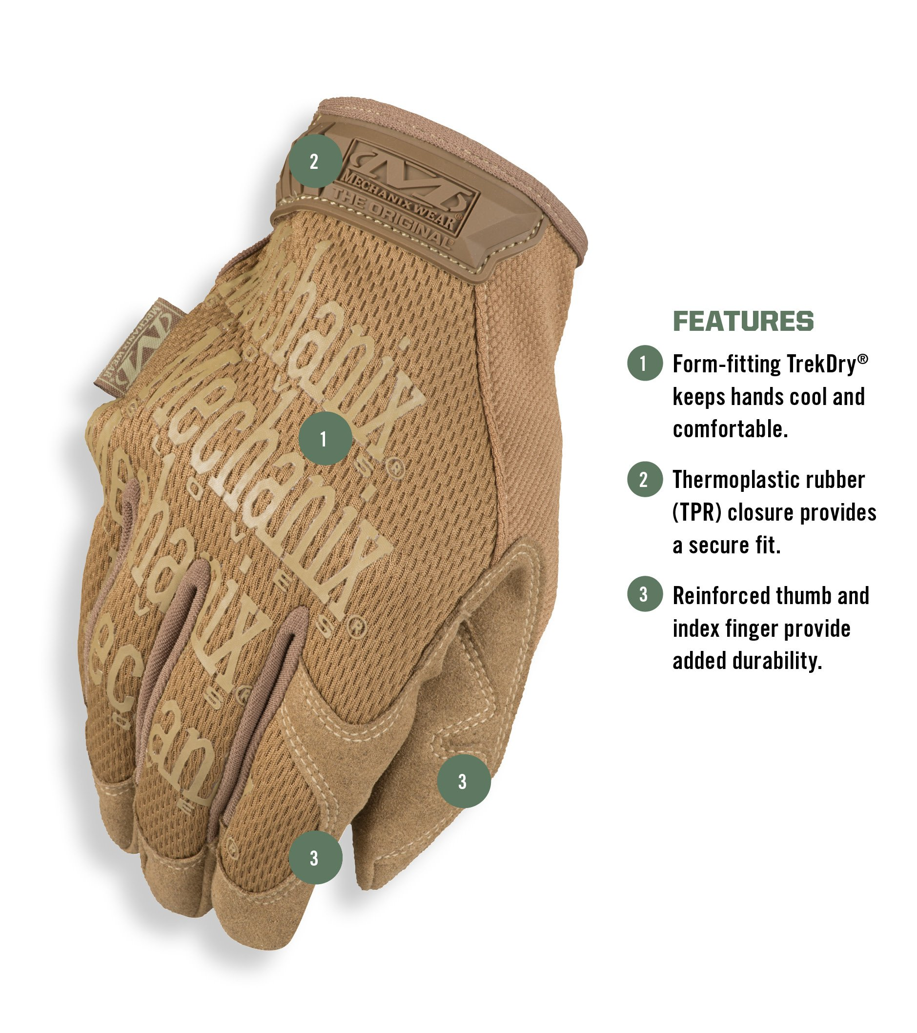 Mechanix Wear - Original Coyote Tactical Gloves (Large, Brown) by Mechanix Wear (Image #2)