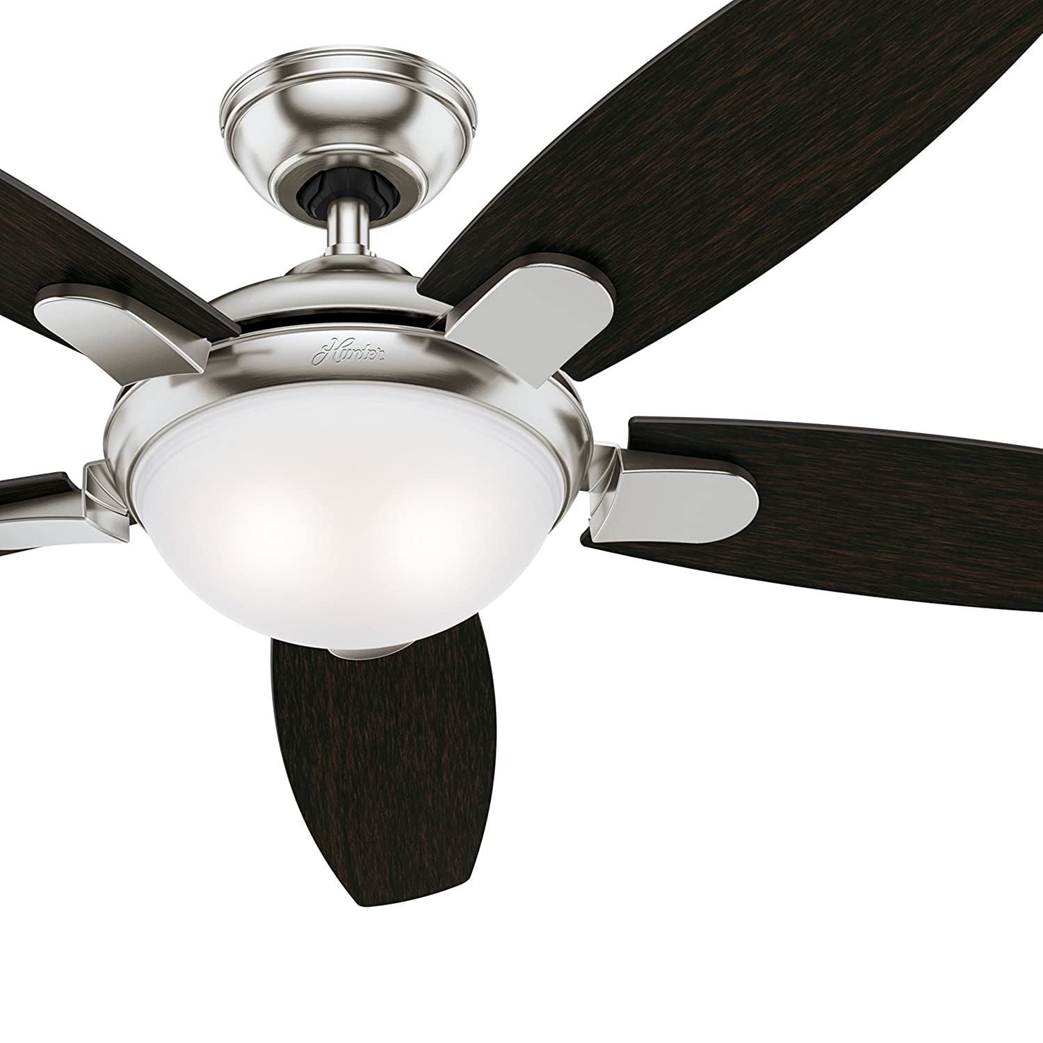 Hunter 54 in. Contemporary Ceiling Fan in Brushed Nickel with LED Light and Remote Control (Certified Refurbished) Hunter Fan Company CC5C94C76