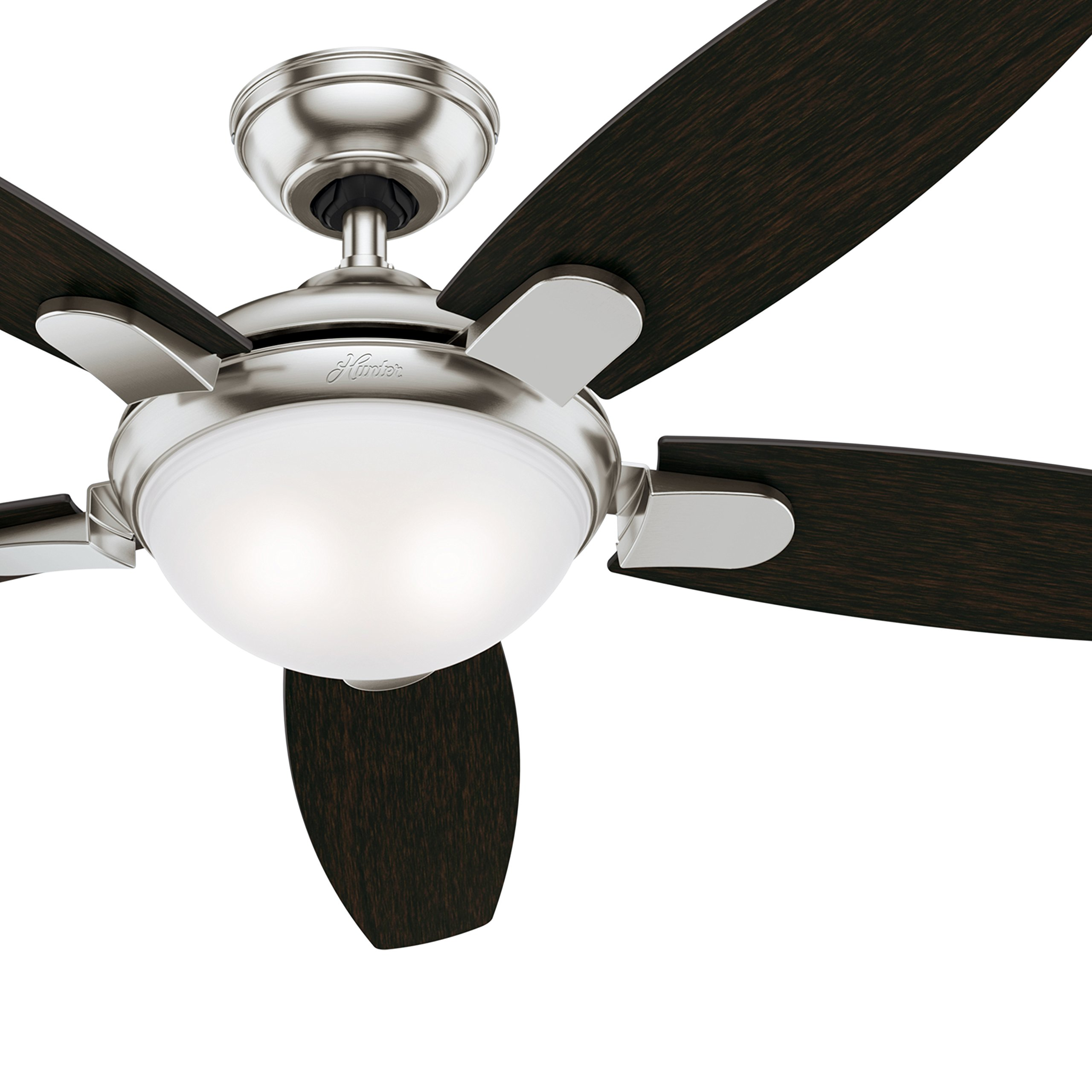 Hunter 54 in. Contemporary Ceiling Fan in Brushed Nickel with LED Light and Remote Control (Certified Refurbished) by Hunter Fan Company
