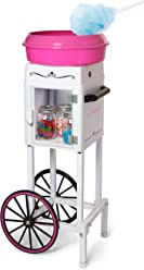 Nostalgia CCM200 Vintage Hard & Sugar-Free Candy Cotton Candy Cart - 36 Inches Tall