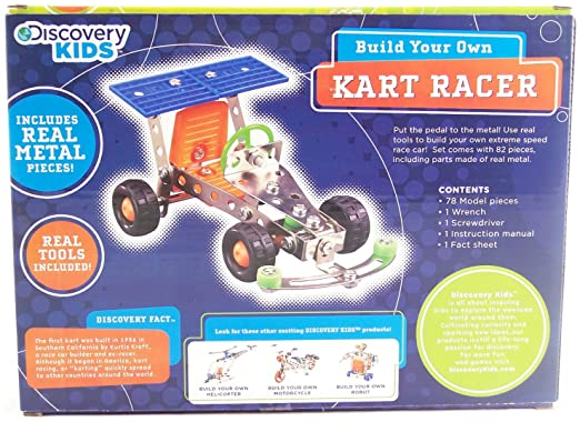 amazoncom discovery kids build your own kart racer kit toys games