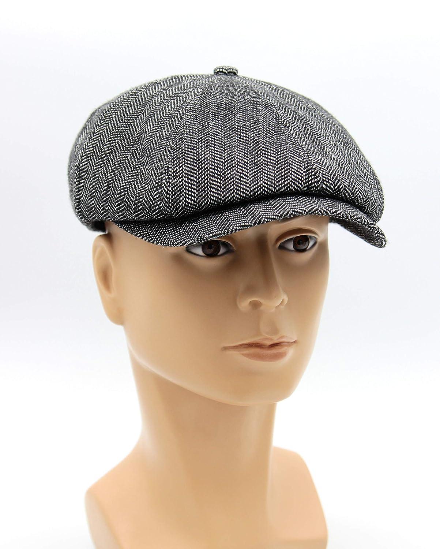 404d0ac8e456e6 Amazon.com: Hat type Newsboy Cap or Jay Gatsby, Men's Newsboy Cap in Grey  Tweed, Newsboy Hat, Tweed Flat Cap, Men's Cap.: Handmade