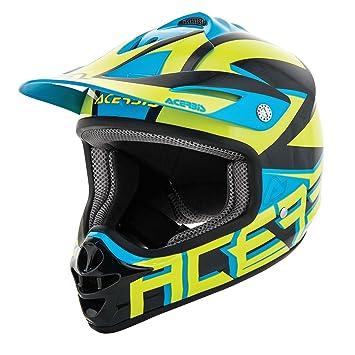 Acerbis Casco para moto de Cross/Enduro, Impact Junior 3.0 para niño M Amarillo