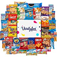 Cookies Chips & Candies Snacks Variety Pack Bulk Sampler Assortment by Variety Fun (Care Package 50 Count)