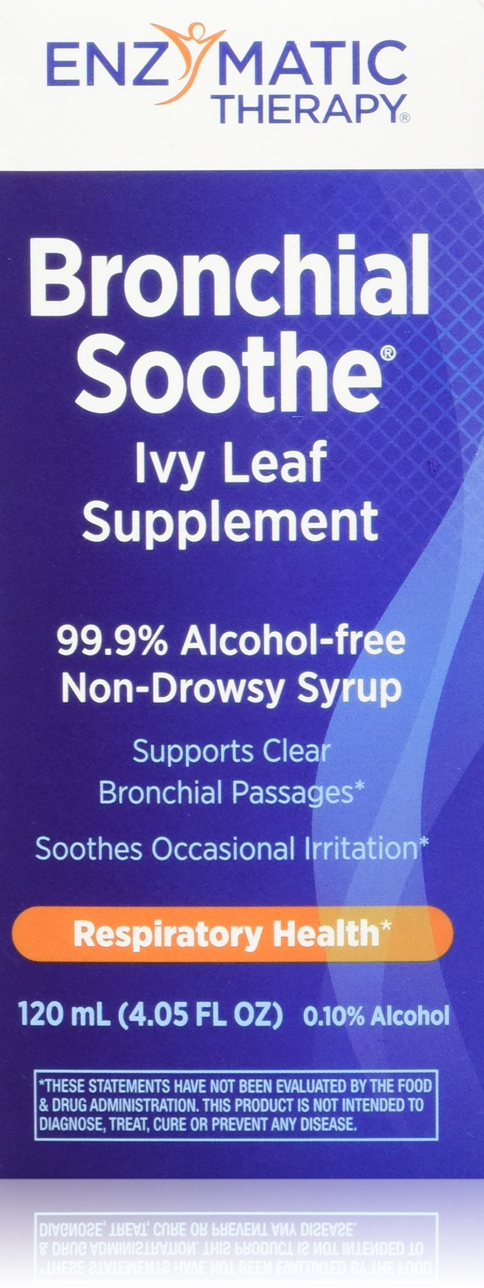 Enzymatic Therapy Bronchial Soothe 99.9% Alcohol Free Non Drowsy Syrup, Ivy Leaf, 120 ml, 4.05 Fluid Ounce