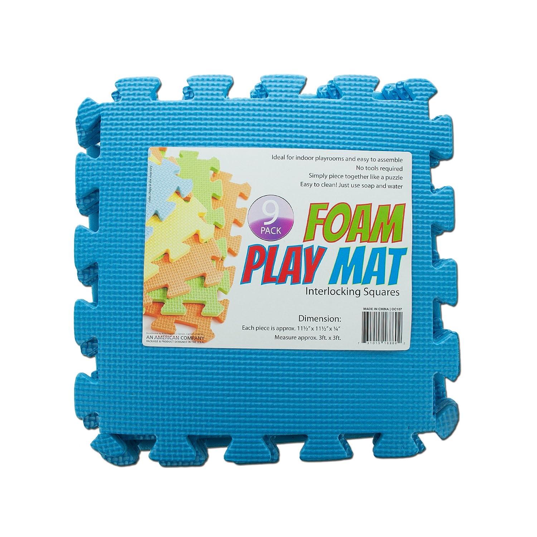 Kole Imports OC107 Interlocking Foam Play Mat 11 1 2 x 11 1 2 x 1 4