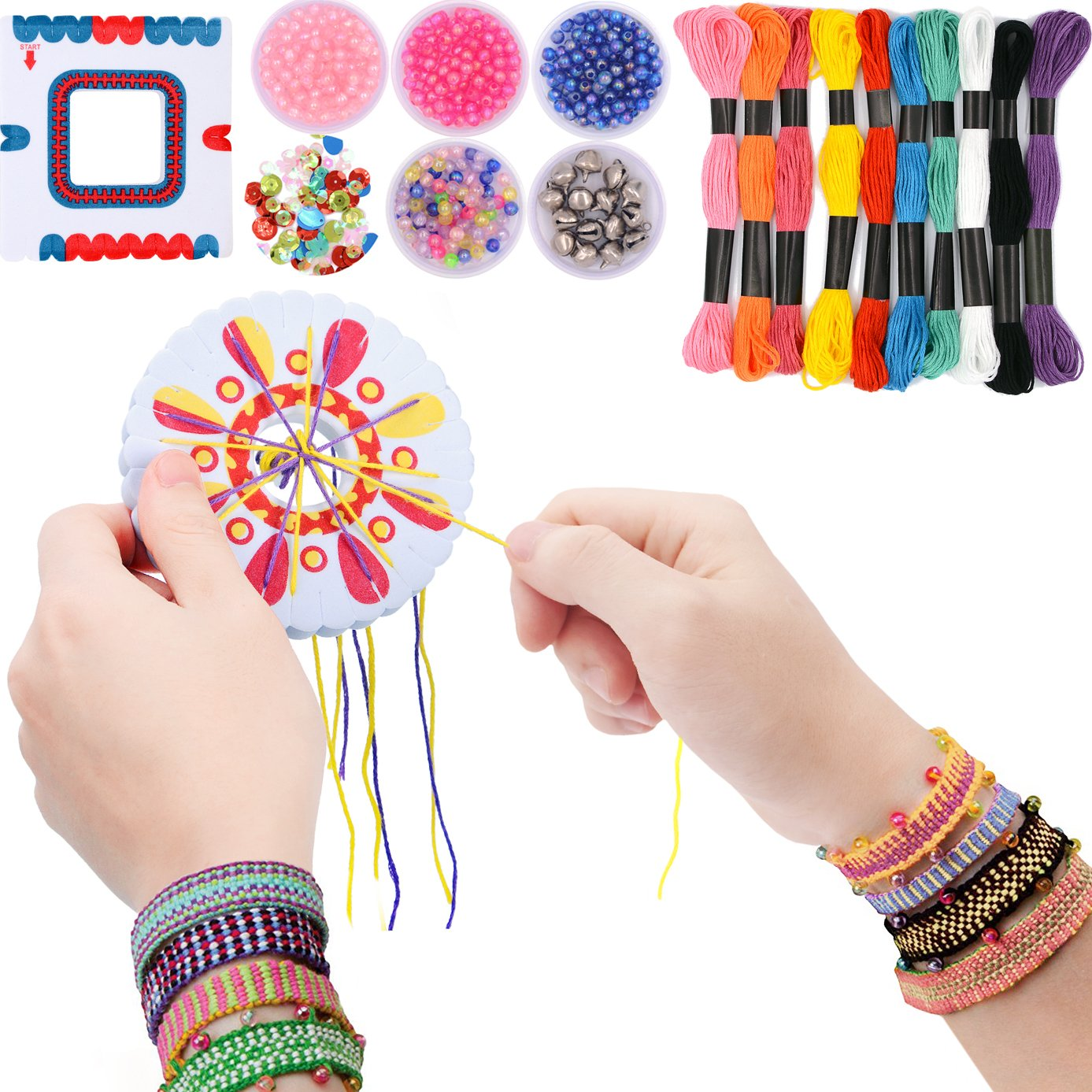 7TECH Premium Friendship Bracelet Maker 2 Packs Jewelry Kit (Deep Color)