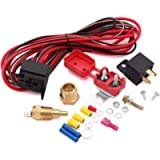 Taigoehua Electric Fan Wiring Install Kit Complete Thermostat 50 Amp Relay 185° SBC BBC
