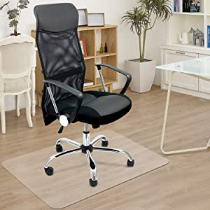 Azadx Home Office Chair Mat 30'' x 48'', Transparent Hard Floors Protector Rectangle, Office Chair Mats for Hard Surfaces (30 x 48'' Rectangle)
