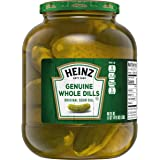 Heinz Genuine Whole Dill Pickles, Original, 46 Fl Oz (Pack of 6)