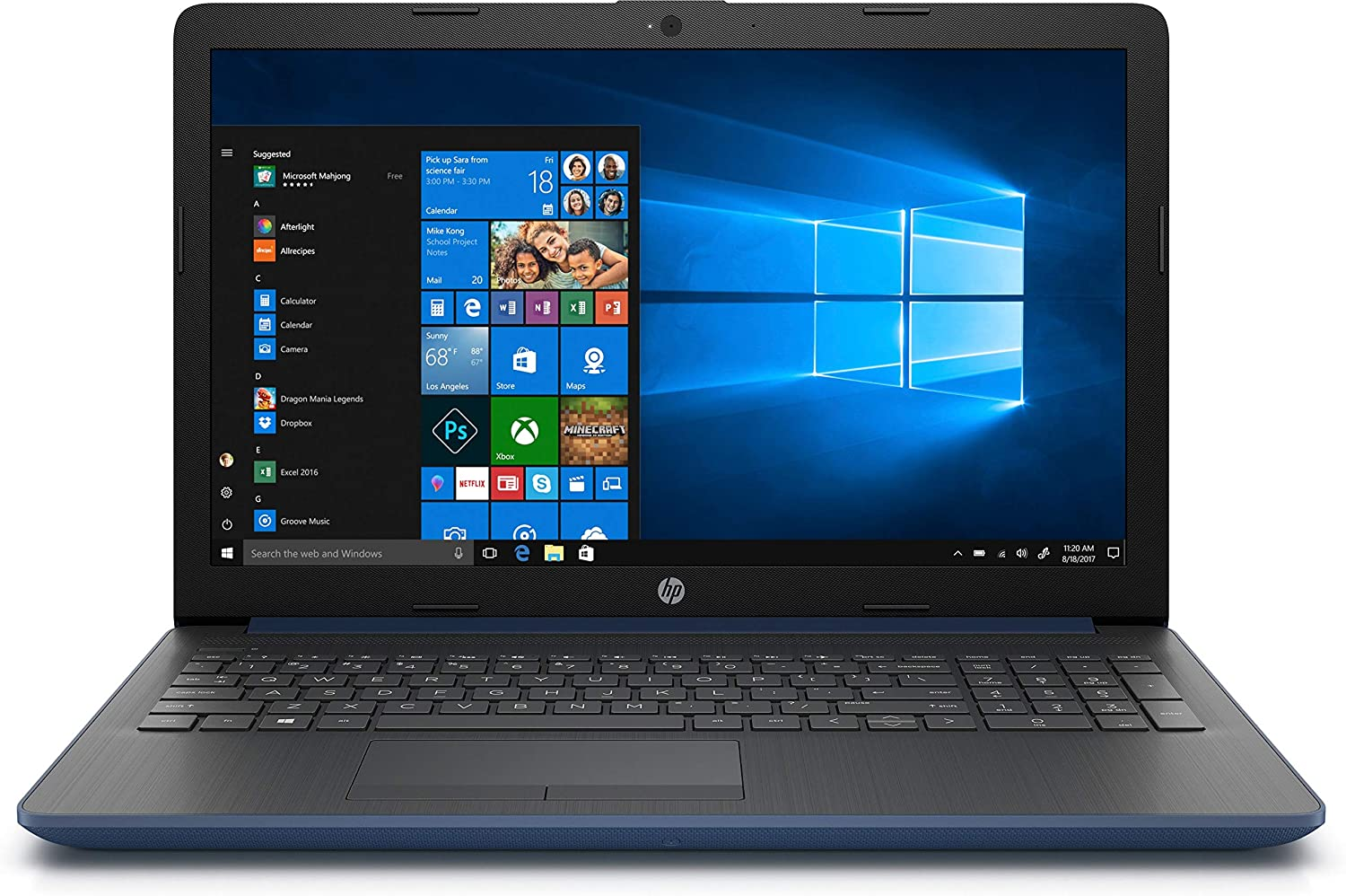 PORTATIL HP 15-DA0034NS I3-7020U 8GB 256SSD 15.6