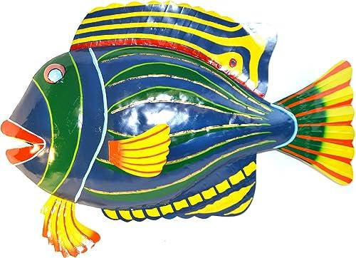 Huge 29 Long Beautiful Unique Nautical Metal Fish Wall Art