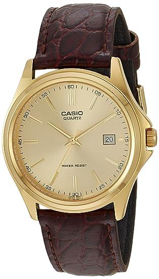 4fbe822dce7f Casio reloj hombre piel marron MTP-1183Q-9A  Casio  Amazon.es  Relojes