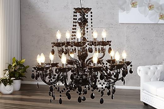 Kronleuchter Schwarz Vintage ~ Riesiger kronleuchter schwarz armig königlicher lüster amazon
