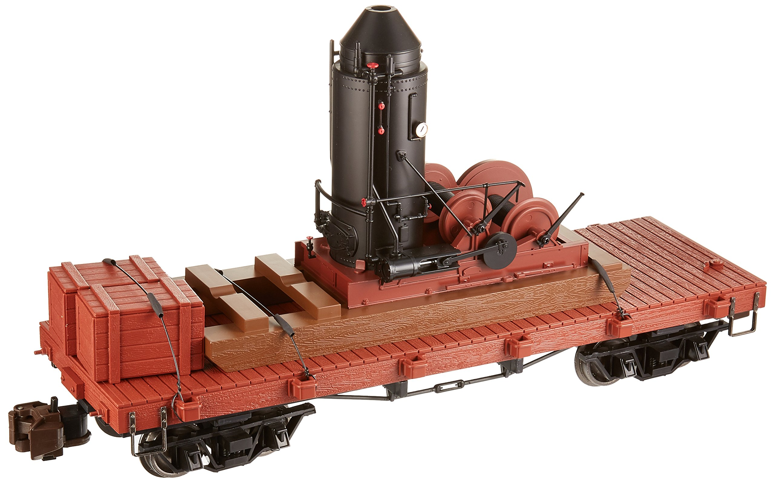 Bachmann Industries Log Skidder with Crate on 20' Log Car - Large ''G'' Rolling Stock (1:20 Scale)