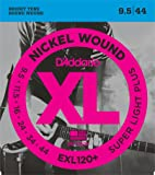 D'Addario Cordes en nickel pour guitare électrique D'Addario EXL120+, Super Light Plus, 9.5-44