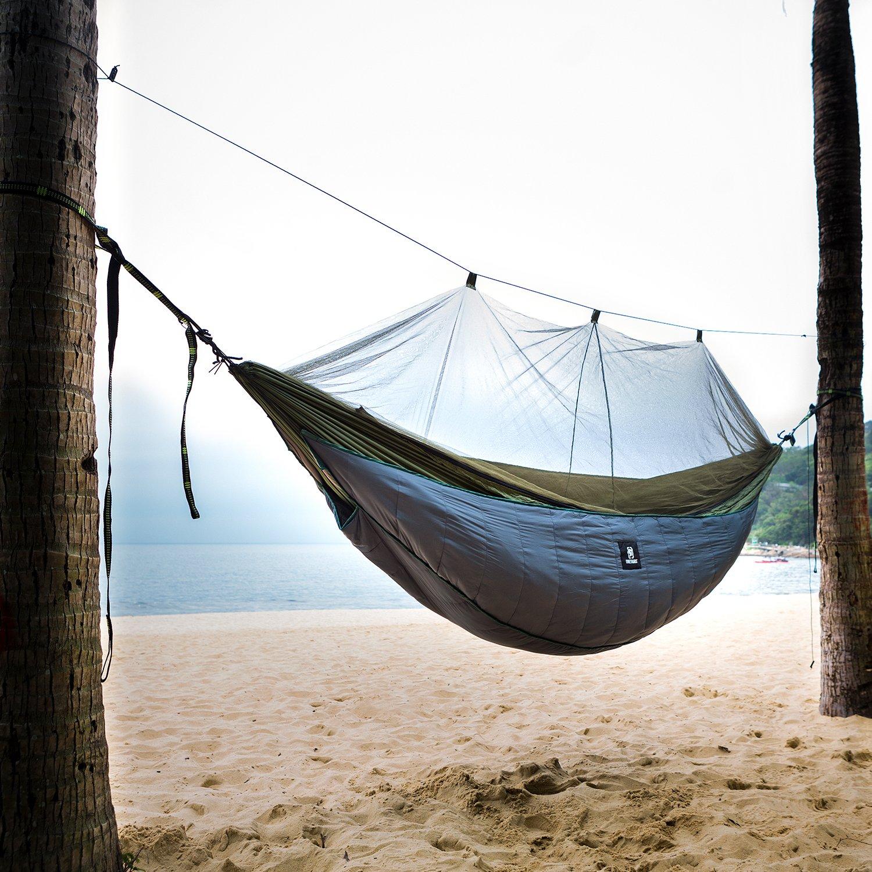 OneTigris Hammock Underquilt, Lightweight Camping Quilt, Packable Full Length Under Blanket (Shadow Grey - 3 Seasons Underquilt)