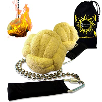 Pro Fire Poi Fist set 'Lion Paw' + Travel Bag by Flames 'N Games (Lion Paw)