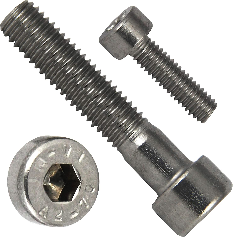 M3x50 - aus rostfreiem Edelstahl A2 V2A Zylinderschrauben mit Innensechskant SC912 - DIN 912 Zylinderkopfschrauben - Teilgewinde 25 St/ück ISO 4762