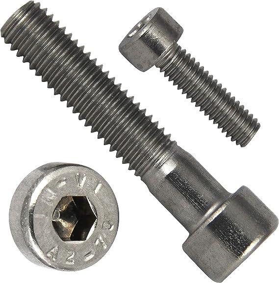 ISO 4762 Zylinderschrauben mit Innensechskant aus rostfreiem Edelstahl A2 V2A SC912 - DIN 912 - Vollgewinde Zylinderkopfschrauben 20 St/ück M3x12 -