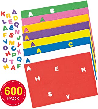 FOAM ALPHABET CAPITAL LETTERS Self Adhesive Peel and Stick Assorted Colours Pack