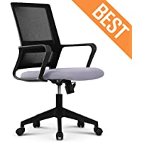 NEO CHAIR Office Chair Computer Desk Chair Gaming Bulk Business Ergonomic Mid Back Cushion Lumbar Support Wheels Comfortable Black/Grey Mesh Racing Seat Adjustable Swivel Rolling Executive