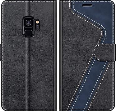 MOBESV Funda para Samsung Galaxy S9, Funda Libro Samsung S9, Funda Móvil Samsung Galaxy S9 Magnético Carcasa para Samsung Galaxy S9 Funda con Tapa, Elegante Negro: Amazon.es: Electrónica