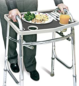 North American Walker Tray with Non-Slip Grip Mat