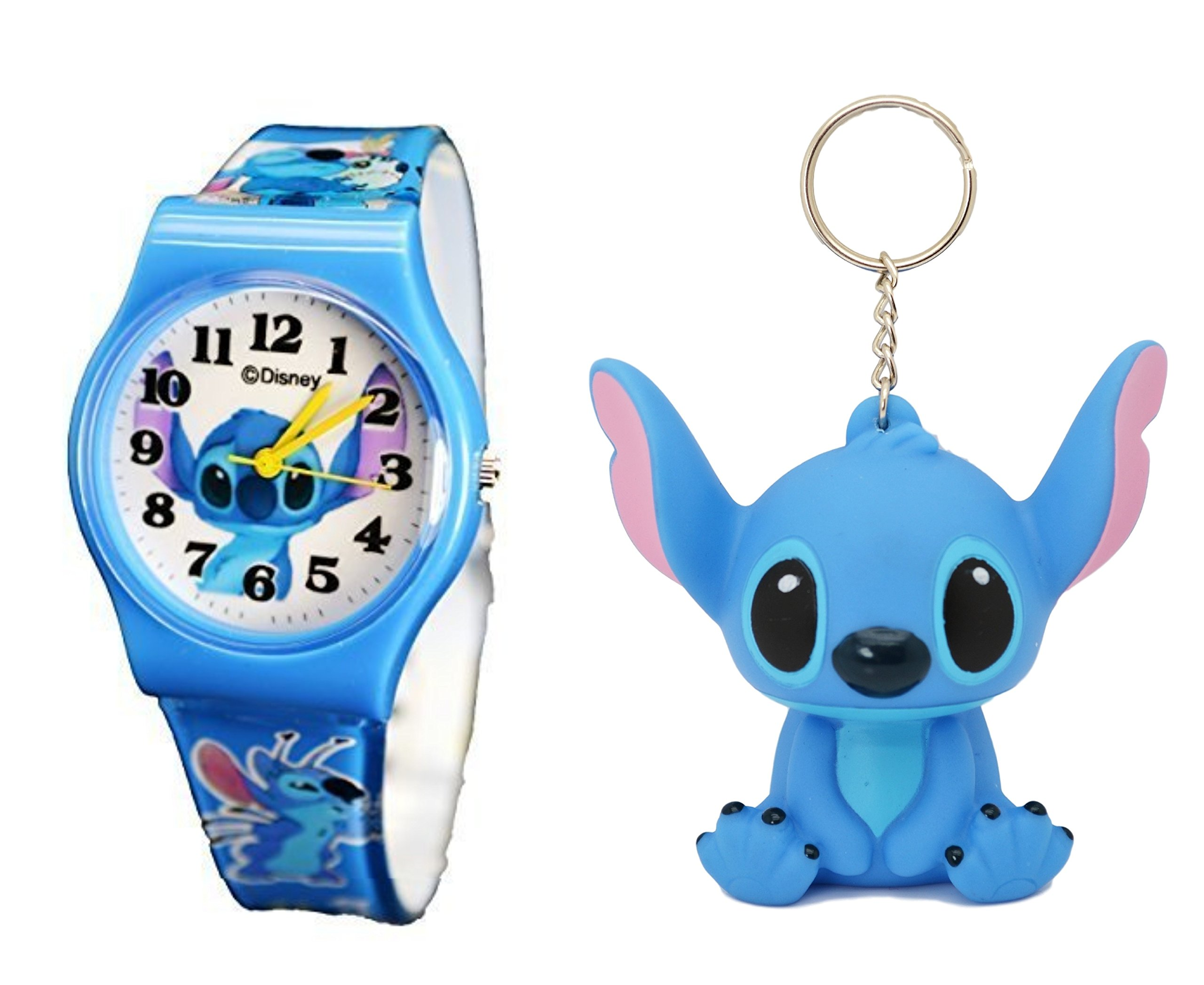 Disney Lilo & Stitch Gift Set Watch & Keychain For Children