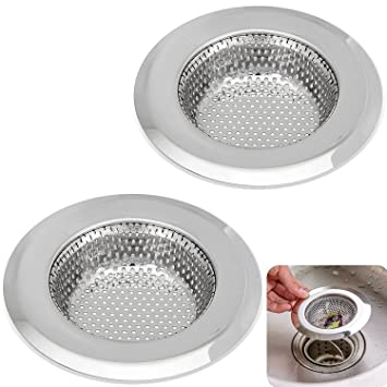 kitchen sink strainer 45 inch dia set of 2 sink strainers stainless steel. beautiful ideas. Home Design Ideas