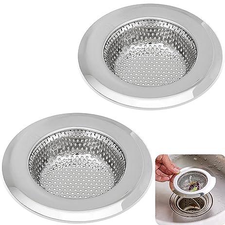 Kitchen Sink Strainer - 4.5 Inch Dia - 2PCS Sink Strainers ...