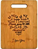 Mothers Present ~ Special Love Heart Poem Bamboo Cutting Board Mom Present Mother Day Mom Birthday Holiday Engraved Side…