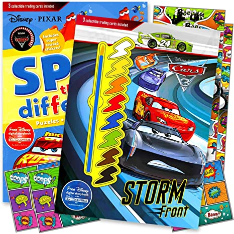 Lightening McQueen Disney Cars Coloring Book with Disney Cars Stickers